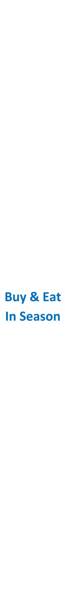 Buy & Eat In Season