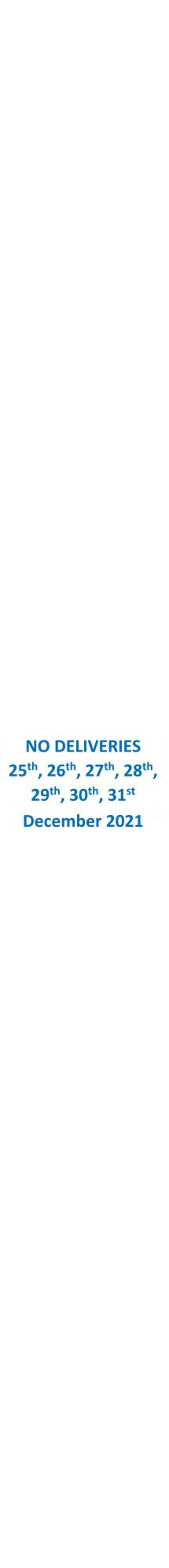 No Deliveries December