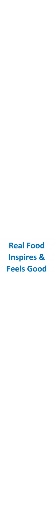 Real food inspires