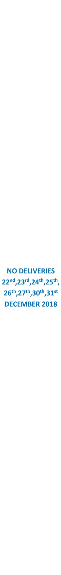 No Deliveries 2018