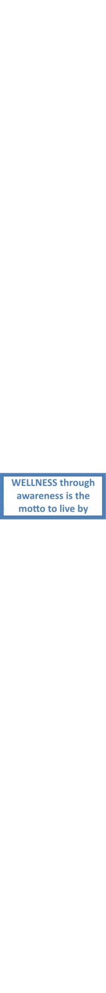 wellness through awareness
