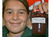STRAWBERRY & RHUBARB JAM  300 ml From Happy Pantry Katikati
