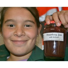 STRAWBERRY & RHUBARB JAM  300ml From Happy Pantry Katikati