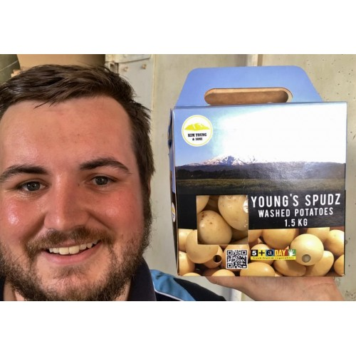 SMALL SIZE WASHED WHITE WAXY POTATOES - 1.5kg Box - Ohakune Grown
